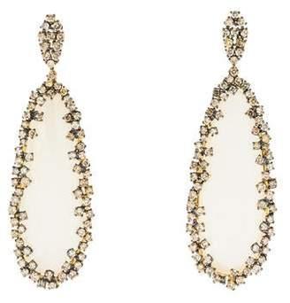 Suzanne Kalan 18K Chalcedony & Diamond Antique Drop Earrings