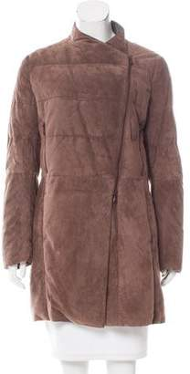 Brunello Cucinelli Asymmetrical Leather Jacket w/ Tags