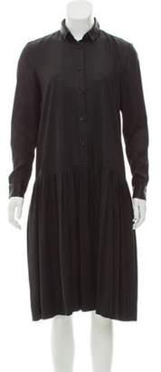 Creatures of Comfort Coated Midi Dress Black Coated Midi Dress