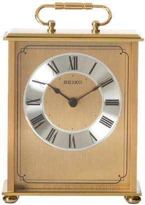 Seiko Desk and Table Carriage Clock -Tone Solid Brass Base and Top