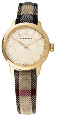 Burberry Swiss Honey Check Watch Honey Swiss Honey Check Watch