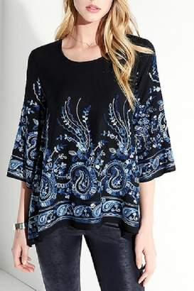 Karen Kane Midnite Blue Embroidered