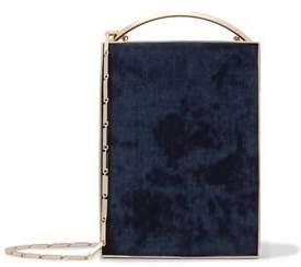 Eddie Borgo Gold-Tone Leather And Tie-Dyed Corduroy Box Clutch