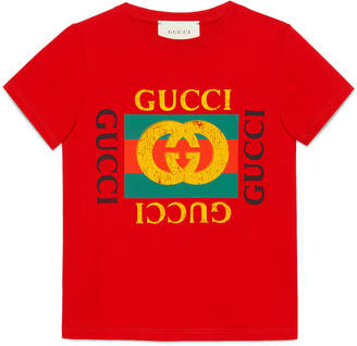 Children's cotton t-shirt with Gucci logo $135 thestylecure.com