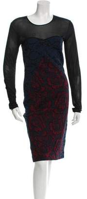 Stella McCartney Floral Pattern Long Sleeve Dress