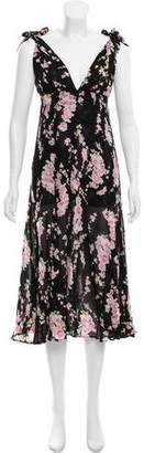 Reformation Sleeveless Floral Maxi Dress
