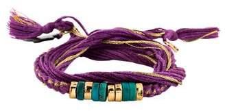Aurelie Bidermann Turquoise & Mother of Pearl Takayama Wrap Bracelet