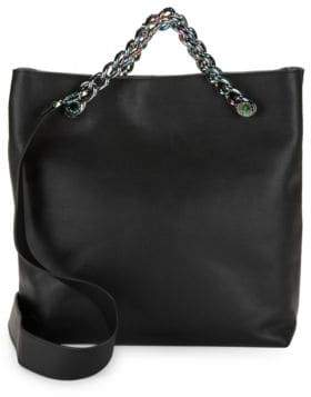 KENDALL + KYLIE Van Leather Chain Shopper Tote