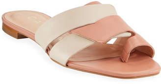 Carrano Dell Two-Tone Slide Sandals