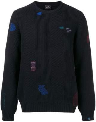 Paul Smith contrast stitch jumper