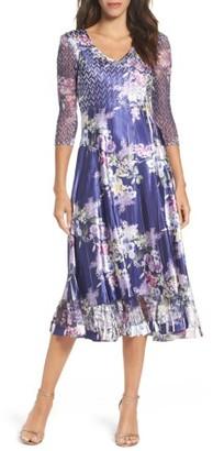 Petite Women's Komarov Charmeuse A-Line Dress $308 thestylecure.com