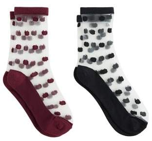 MANGO 2 pack polka-dot socks