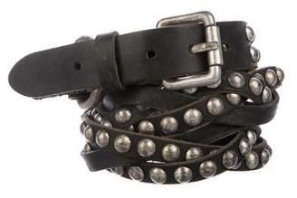 Zadig & Voltaire Embellished Leather Belt