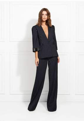 Rachel Zoe Josie Marais Striped Suiting Wide-Leg Pants