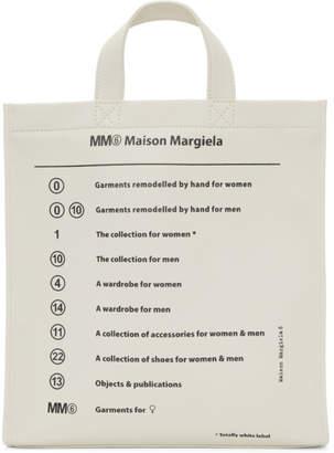 MM6 MAISON MARGIELA White Garment Print Tote