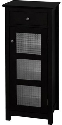 Elegant Home Fashions Torino Floor Cabinet with Door and Drawer, Espresso