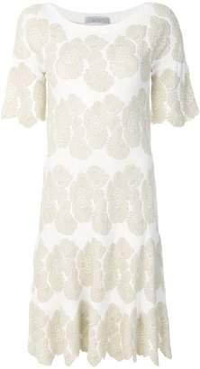 D-Exterior D.Exterior floral jacquard dress