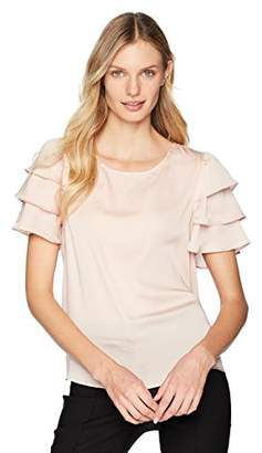 Nanette Lepore Nanette Women's Short Tiered Sleeve Top