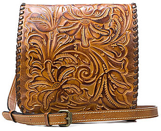Patricia Nash Burnished Tooled Collection Floral-Embossed Granada Cross-Body Bag $149 thestylecure.com