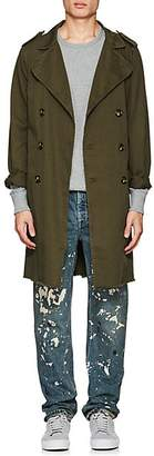 NSF Men's Cotton Twill Trench Coat - Olive Size Xl