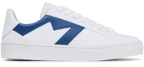 Maje Frenchie Leather-appliqued Canvas Sneakers
