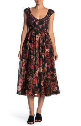 Free People Love You Floral Print Fit & Flare Dress