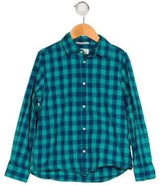 Scotch Shrunk Boys' Gingham Button-Up Shirt
