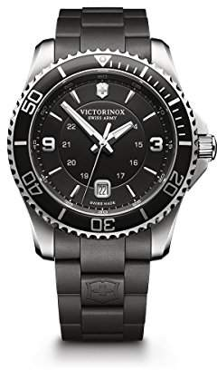 Victorinox Men's 241698 Maverick Watch with Black Dial and Black Rubber Strap