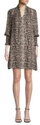 Rebecca Taylor Snake Print Dress
