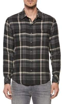 Paige Plaid Button-Down Shirt