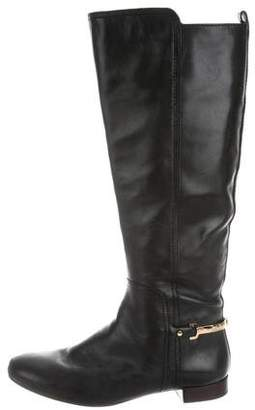 Tory Burch Leather Logo-Embellished Boots