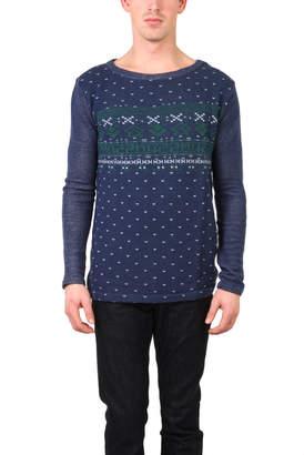 Warehouse Via Spare Print Sweater