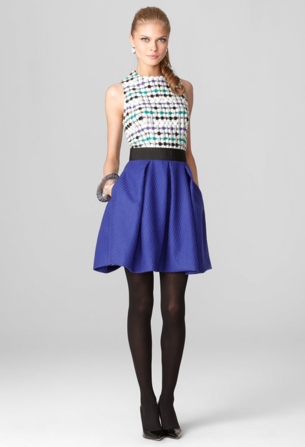 Milly Lucia Combo Dress