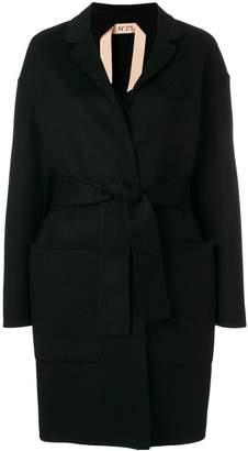 No.21 boxy single-breasted coat