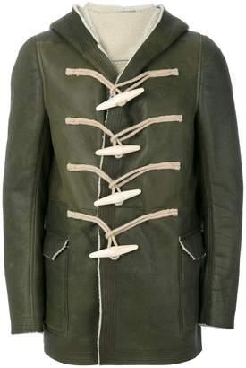Rick Owens toggle hooded coat
