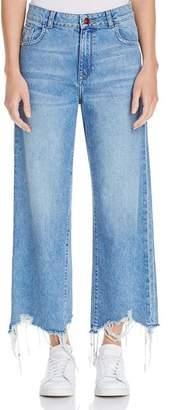 DL1961 Hepburn High-Rise Wide-Leg Jeans in Slate