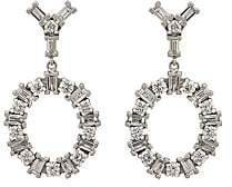 Ileana Makri Women's White Diamond Double-Drop Earrings-Gold