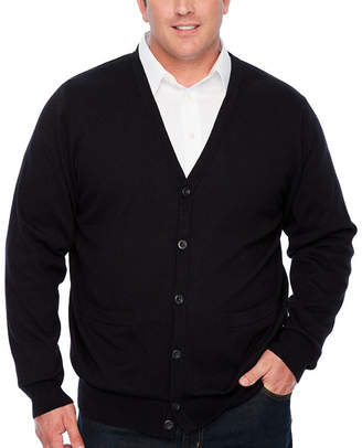 THE FOUNDRY SUPPLY CO. The Foundry Big & Tall Supply Co. Mens V Neck Long Sleeve Cardigan - Big and Tall