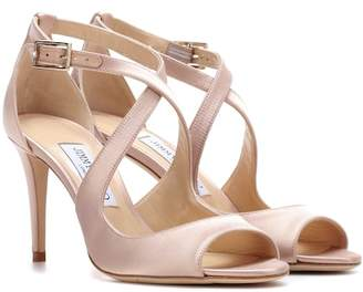Jimmy Choo Emily 85 satin sandals
