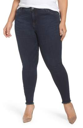 KUT from the Kloth Donna Frayed Skinny Crop Jeans