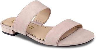 Women's Keriala Flat Sandal -Navy Faux Suede $60 thestylecure.com