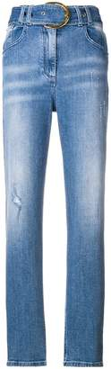 Balmain belted high-rise jeans