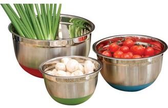 Cook Pro 3-Piece Mixing Bowl Set