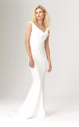 Savannah Miller Avalon Satin Gown With Cowl Draping
