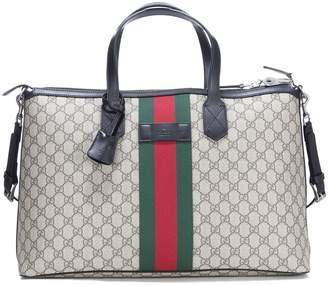 Gucci Web Gg Supreme Duffle Bag