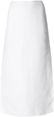 Theory side vent long skirt