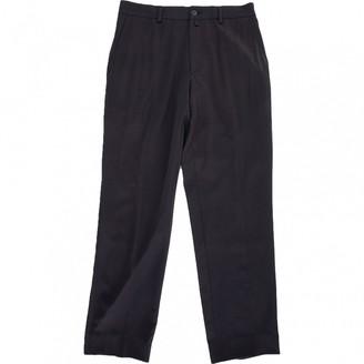 Dries Van Noten Grey Wool Trousers