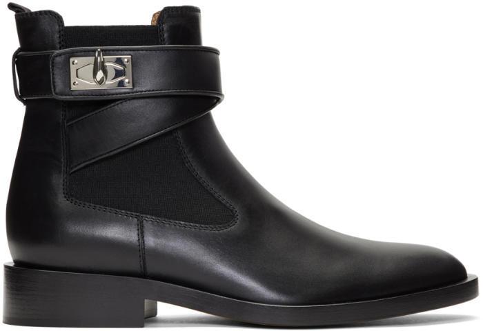 Givenchy Black Shark Lock Boots