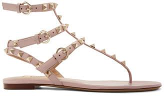 Valentino Pink Garavani Rockstud Cage Sandals