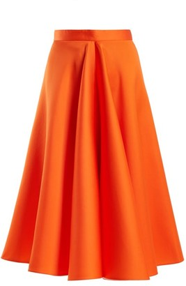 Maison Rabih Kayrouz High Waisted Satin Full Skirt - Womens - Orange